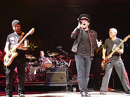 U2 performing at Madison Square Garden in November 2005