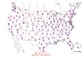 2007-11-22 Max-min Temperature Map NOAA.png