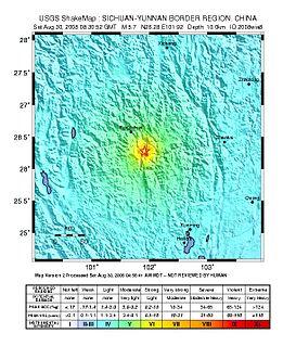 2008 Panzhihua earthquake earthquake