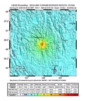 2008 Panzhihua earthquake - Image: 2008 Sichuan Yunnan earthquake
