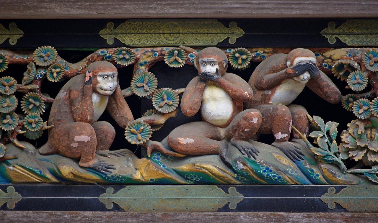 https://upload.wikimedia.org/wikipedia/commons/thumb/4/41/20100727_Nikko_Tosho-gu_Three_wise_monkeys_5965.jpg/1280px-20100727_Nikko_Tosho-gu_Three_wise_monkeys_5965.jpg