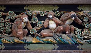 20100727 Nikko Tosho-gu Three wise monkeys 5965.jpg
