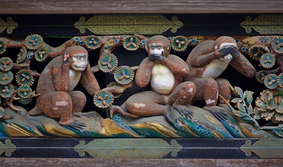 20100727 Nikko Tosho-gu Three wise monkeys 5965