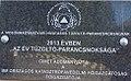 2013. évben az év tűzoltó-parancsnoksága emléktábla, 2017 Mosonmagyaróvár.jpg