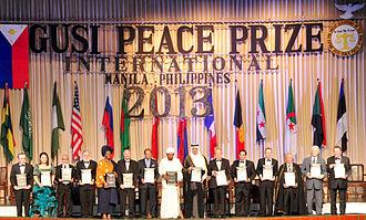Gusi Peace Prize - 2013 GUSI PEACE PRIZE LAUREATES