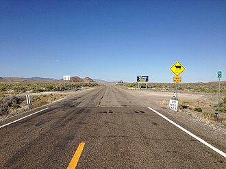 Utah State Route 30 - View east from the west end of SR 30 at the Nevada state line