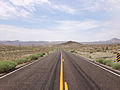 2014-07-17 11 37 50 View west along U.S. Route 6 about 27.6 miles east of the Esmeralda County Line in Nye County, Nevada.JPG