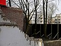 2014.01 - Amsterdam photo, Demolished brick walls and urban winter-trees at the Oostenburgervoorstraat; a geotagged free urban picture, in public domain Commons CCO; city photography by Fons Heijnsbroek, The Netherlands (12250024574).jpg