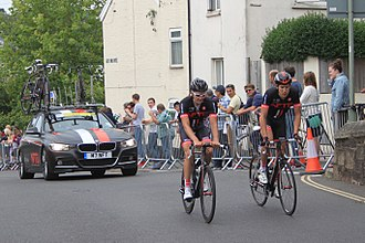 NFTO (cycling team) - Image: 2014 Tour of Britain stage 5 riders 152 Jon Mould and 153 Sam Harrison