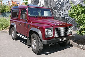 Armed Forces of Malta - Image: 2015 Land Rover Defender (L316 MY15) 90 3 door wagon (2015 10 24) 01