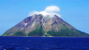Iōjima (Kagoshima) - Mount Iōdake. May, 2015. Took from the east.