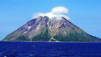 Iōjima (Kagoshima) - Mount Iōdake. May, 2015. Taken from the east.