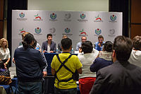 2015 Wikimania press conference-2.jpg