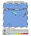 2018-10-02 Nggongi Satu, Indonesia M6 earthquake shakemap (USGS).jpg