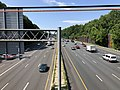 2019-07-12 10 38 37 View south along Interstate 495 (Capital Beltway) from the overpass for Maryland State Route 191 (Bradley Boulevard) on the edge of Bethesda and Potomac in Montgomery County, Maryland.jpg