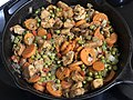 2020-04-21 18 22 36 Chicken, carrots, red peppers, onions and peas in a hot skillet in the Franklin Farm section of Oak Hill, Fairfax County, Virginia.jpg