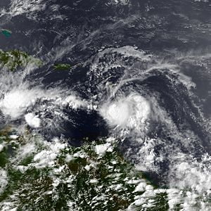 1984 Atlantic hurricane season - Image: 3 L Jul 25 1984 1950Z