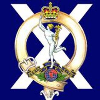 32 Signal Regiment - Cap Badge of 32 Signal Regiment