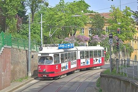 Tram at Hohe Warte, Vienna