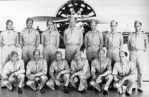37th Training Wing - Pilots of the 37th Pursuit Group, Albrook Field, Panama, 1941 in front of a Boeing P-26.