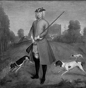 Charles Powlett, 3rd Duke of Bolton - Portrait by James Seymour of the 3rd Duke of Bolton and 8th Marquis of Winchester. Probably in Kingsclere.