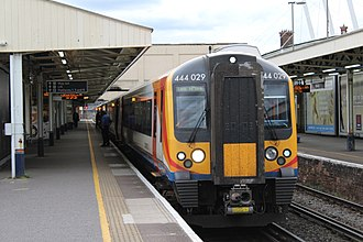 South West Trains - A Class 444 Desiro unit used on longer-distance services on the electrified railway lines.