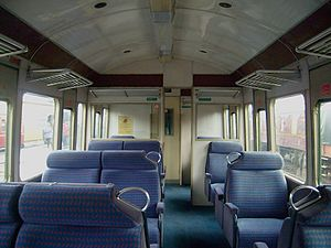 British Rail Class 117 - Image: 4 Class 117 DMU TCO NSE First Class Interior