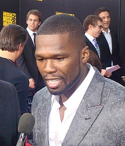 "Curtis ""50 Cent"" Jackson na American Music Awards w 2009 roku."