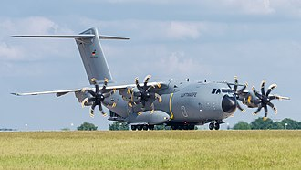 Military transport aircraft - A400M of the German Air Force
