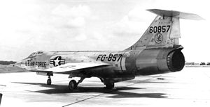 56th Training Squadron - 56th Fighter-Interceptor Squadron Lockheed F-104A Starfighter 56-857 at Wright-Patterson AFB
