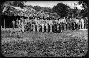 Battle of Telpaneca - Men of the 5th Marines garrisoning a Nicaraguan village.