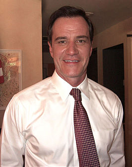 "Tim DeKay tijdens opnames van de aflevering ""On the Fence"" van White Collar, 7 juni 2011"