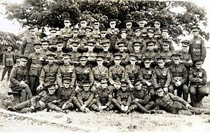 Liverpool Rifles - C Company of the 6th (Rifle) Battalion at Kinmel Park, near Rhyl, Wales. (July 1931).