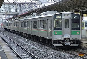 701 series - Sendai-based 701-100 series set at Koriyama Station in March 2007