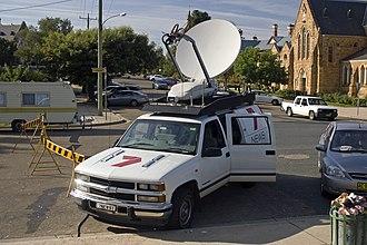 Seven News - Seven News broadcast vehicle