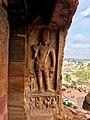 7th century Dvarapala in Cave 2, Badami Hindu cave temple Karnataka 2.jpg