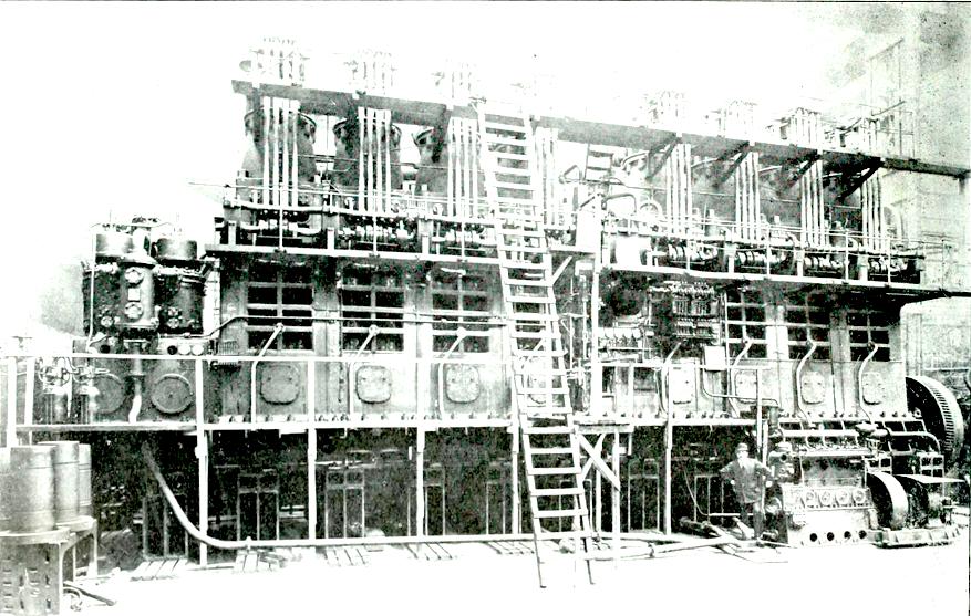 8 cylinder Burmeister %26 Wain Diesel engine for MS Glenapp 1920