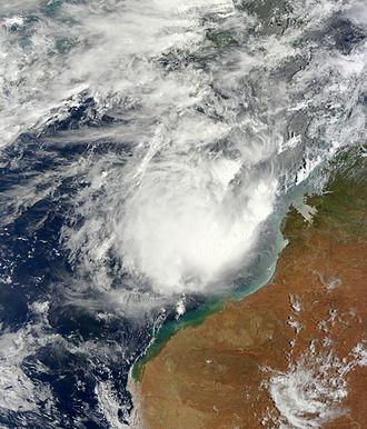 2012–13 Australian region cyclone season - Image: 90S Jan 15 2013 0215Z