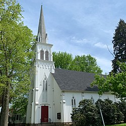 Dutch Reformed Church, built 1856, at the heart of the Rocky Hill Historic District