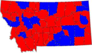 English: 1996 Montana Senate election results ...