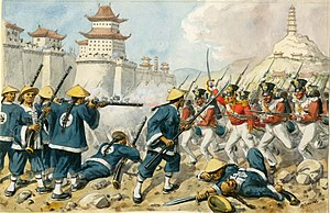 98th (Prince of Wales's) Regiment of Foot - The 98th Foot at the Battle of Chinkiang in China, 21 July 1842