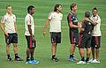 AC Milan players on Yankee Stadium field.jpg