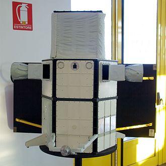AGILE (satellite) - A model of the satellite.