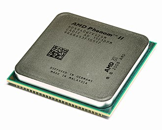 Phenom II - An AMD Phenom II X4 840 quad-core CPU.