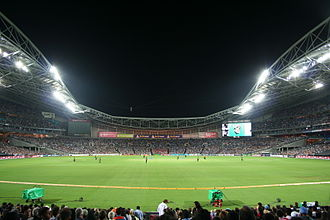 Stadium Australia - During a Twenty20 match between India and Australia in 2012.