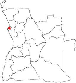 Luandas beliggenhed i Angola