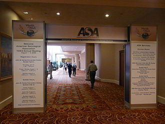 American Sociological Association - Entry to the ASA conference, Boston, 2008