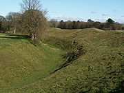 Part of the outer ditch