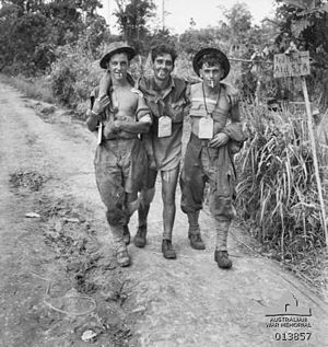 55th/53rd Battalion (Australia) - Walking wounded from the 55th/53rd Battalion after an attack on 7 December 1943 around Sanananda