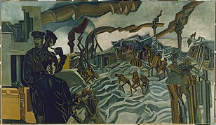 Wyndham Lewis's A Battery Shelled; 1919.[155]